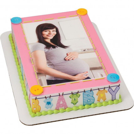 Mom To Be Photo Cake-1 Kg