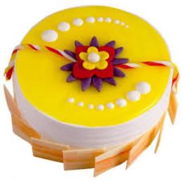 Pineapple Rakhi Cake-500 Gms