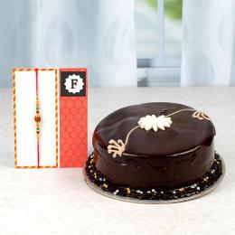 Rakhi 'N' Dark Chocolate Cake Combo