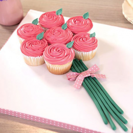 Rose Bunch Cup Cakes
