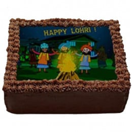 Happy Lohri Photo Cake - 1 Kg
